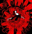 image of dancer in red-black vector image