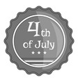 independence day badge icon monochrome vector image vector image
