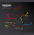 infographic report template made from lines and vector image vector image