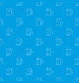 laptop with magnifier pattern seamless blue vector image