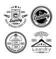 laundry room and dry cleaning service set four vector image vector image