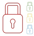 lock Set of line icons vector image vector image