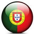 Map with Dot Pattern on flag button of Portuguese vector image vector image