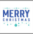 merry christmas party design card vector image