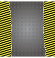 Metallic background with warning stripes vector image vector image