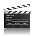 movie clapboard vector image vector image