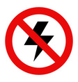 No lightning icon vector image