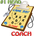 Number 1 Head Coach vector image vector image