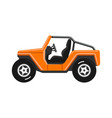 off-road vehicle isolated on white background vector image vector image