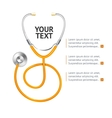 Orange Stethoscope vector image vector image