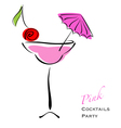 Pink cocktail party vector image vector image