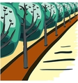 Postcard trees in the future vector image vector image