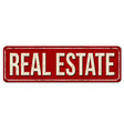 real estate vintage rusty metal sign vector image