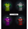 Realistic football uniforms Branding vector image vector image