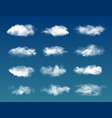 realistic sky clouds transparent background vector image
