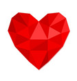 red heart symbol love from crumpled paper stock vector image vector image