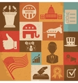 Retro political election campaign icons set vector image vector image