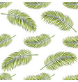 seamless background with palm leaves vector image vector image