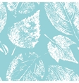 Seamless pattern with autumn skeleton leaves vector image