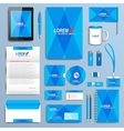 set corporate identity template modern vector image