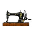 sewing machine vector image vector image