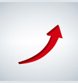 sign red arrow up vector image