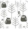 Sleeping birds in winter forest vector image vector image