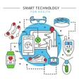 Smart Technology Line Composition vector image
