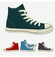 Sneakers set sports mens gym shoes vector image vector image