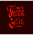 thank you script hand vector image vector image