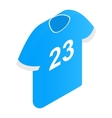 The sports t-shirt with the number 23 icon vector image