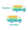 Truck logo design Fast delivery symbol or vector image vector image