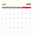 wall calendar template for july 2020 holiday