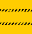 warning frame grunge yellow black diagonal stripes vector image vector image