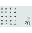 Set of slot machine icons vector image