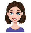woman smiling female emotion face expression cute vector image