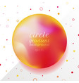 abstract 3d red and yellow gradient circle shape vector image vector image