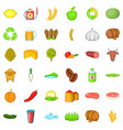 agriculture working icons set cartoon style vector image vector image