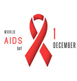 Aids world day poster mockup red ribbon stop virus vector image