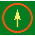 Arrow Axis Y flat orange and yellow colors rounded