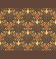art nouveau seamless pattern vector image vector image