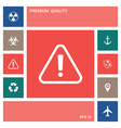 Attention icon symbol elements for your design