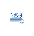 banknotes cents line icon concept banknotes vector image vector image