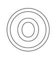 basic font letter o icon design vector image vector image