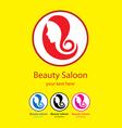 Beauty saloon logo vector image vector image