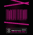 black friday purple typography banner poster or vector image