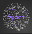 black sport line concept - square web banner vector image vector image
