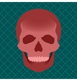 Blood skull vector image