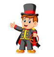 boy wearing costum magician vector image vector image