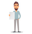 business man in casual clothes vector image vector image